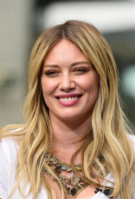 Hilary and Haylie Duff at 'Extra' in Universal City